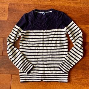 Gap navy and white striped sweater